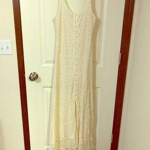 Maxi off white dress